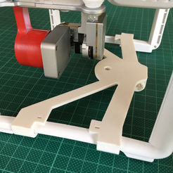 Download 3D printer designs DJI Phantom 3 - holder for GoPro, 360° cam or other attachments, HPB