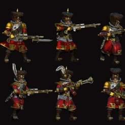 Download free OBJ file armored red coat trooper pack1 • 3D print object, louiskim92