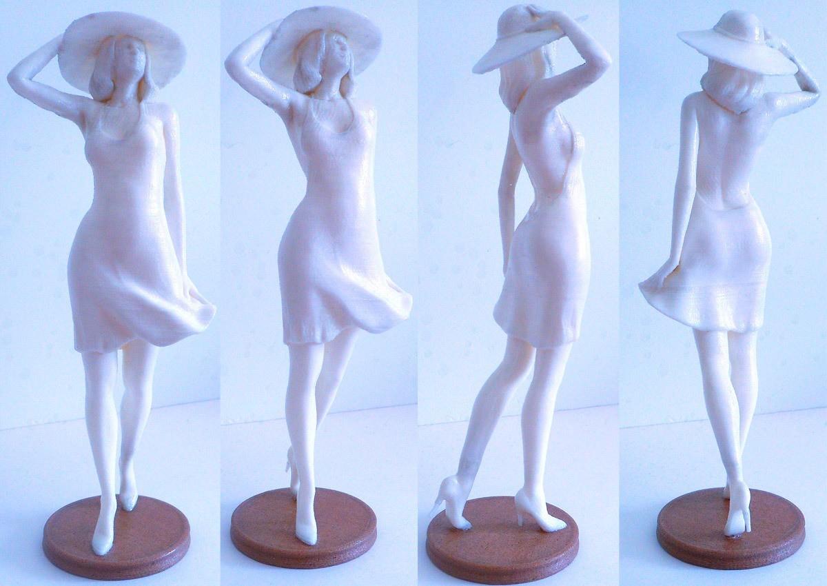WomanWW_print.jpg Download STL file Woman Wind Walk • Object to 3D print, krys-art