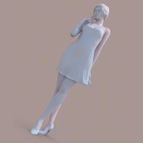 3D printer models Lady walking, krys-art