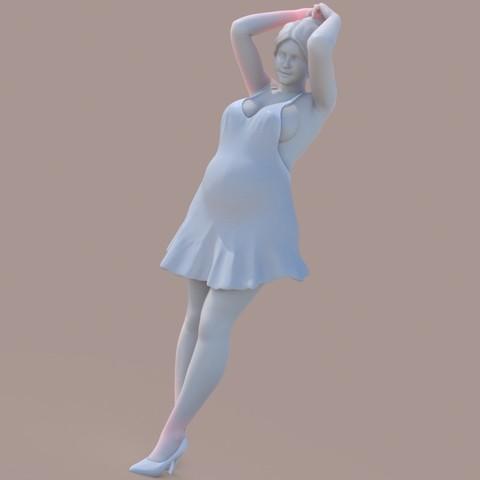 3D printer files Woman with a bun, krys-art