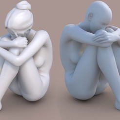 Req00A.jpg Download STL file Woman sitting • 3D printer object, krys-art