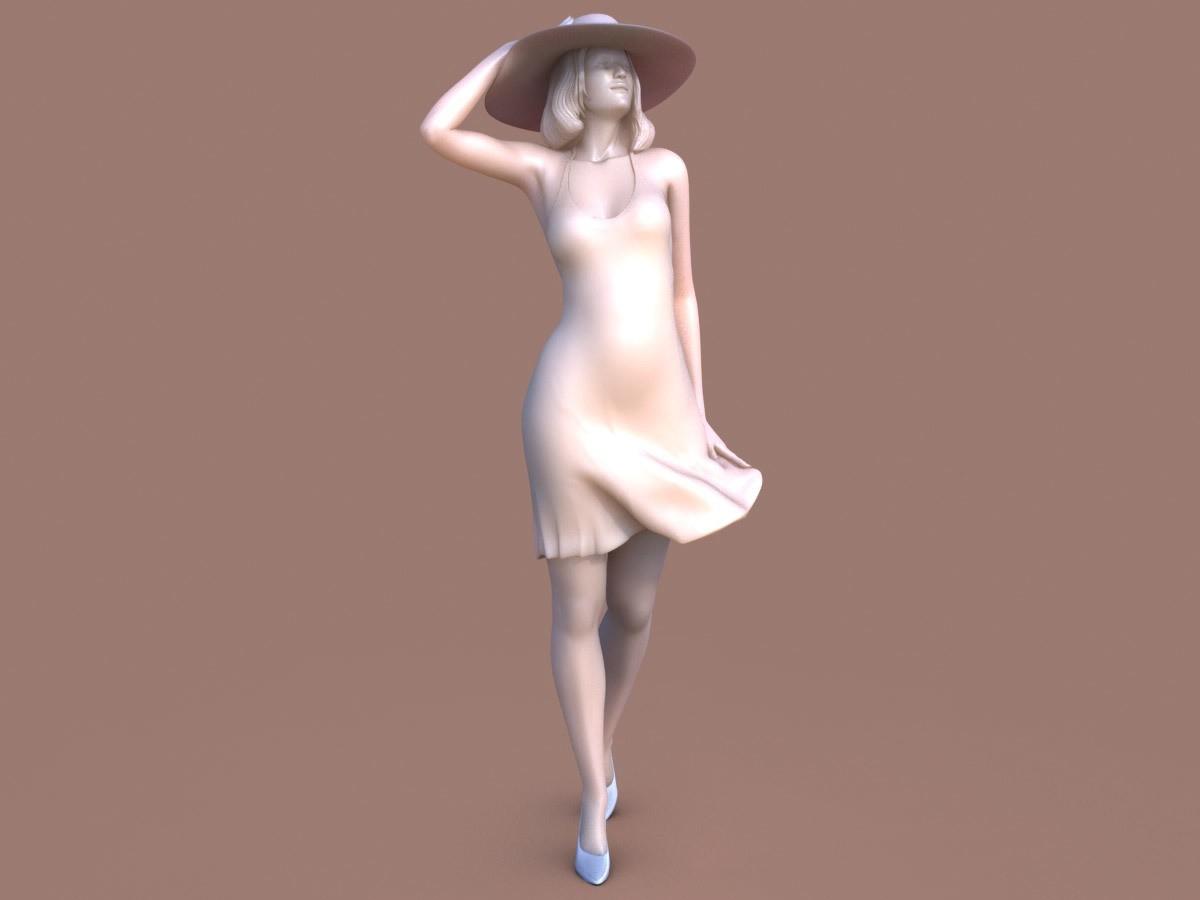 WWW_001.jpg Download STL file Woman Wind Walk • Object to 3D print, krys-art