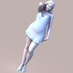 3D printer models Chubby Lady, krys-art