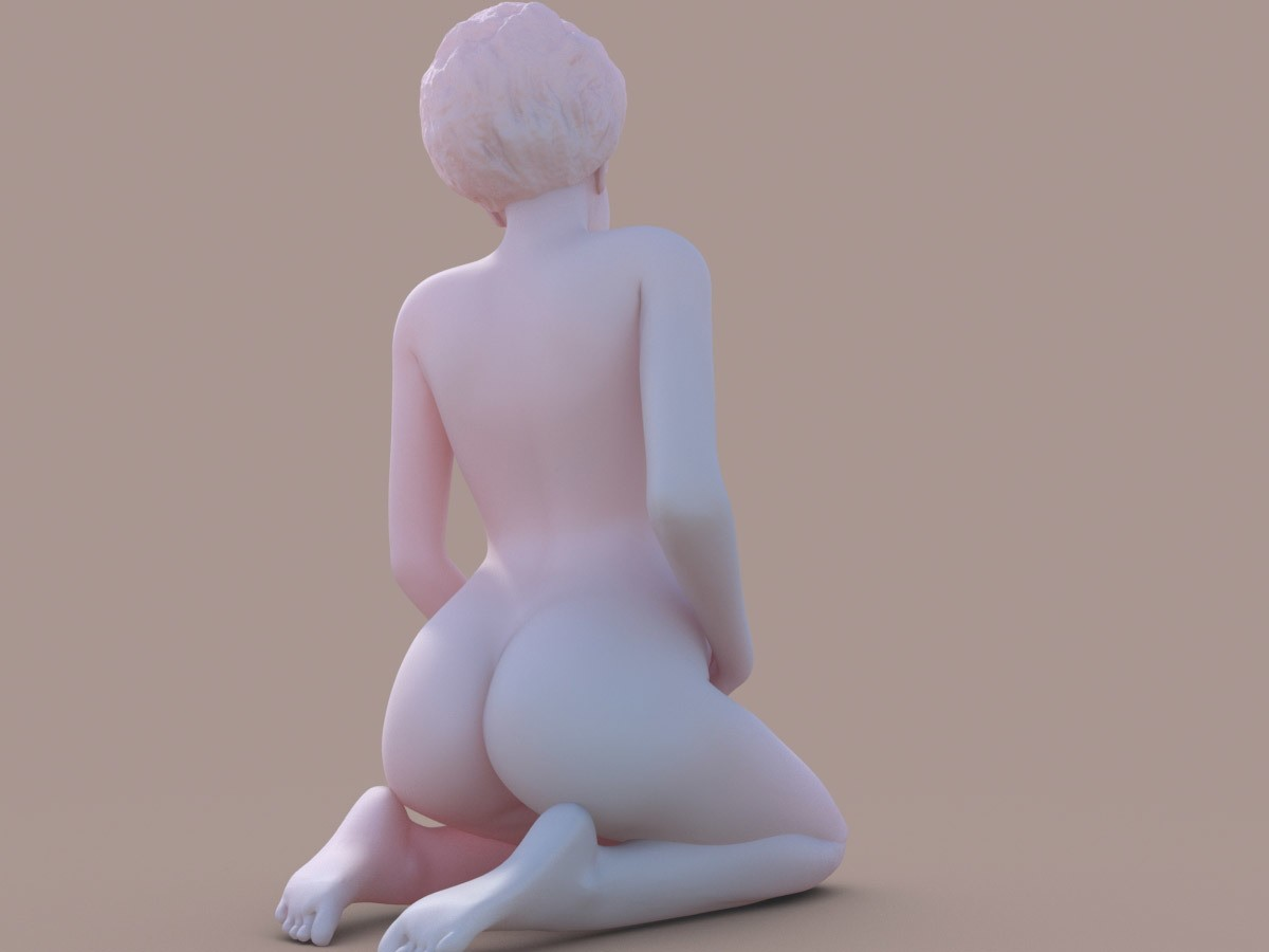 Pregant_afro_002.jpg Download STL file Woman Afro • 3D printable object, krys-art