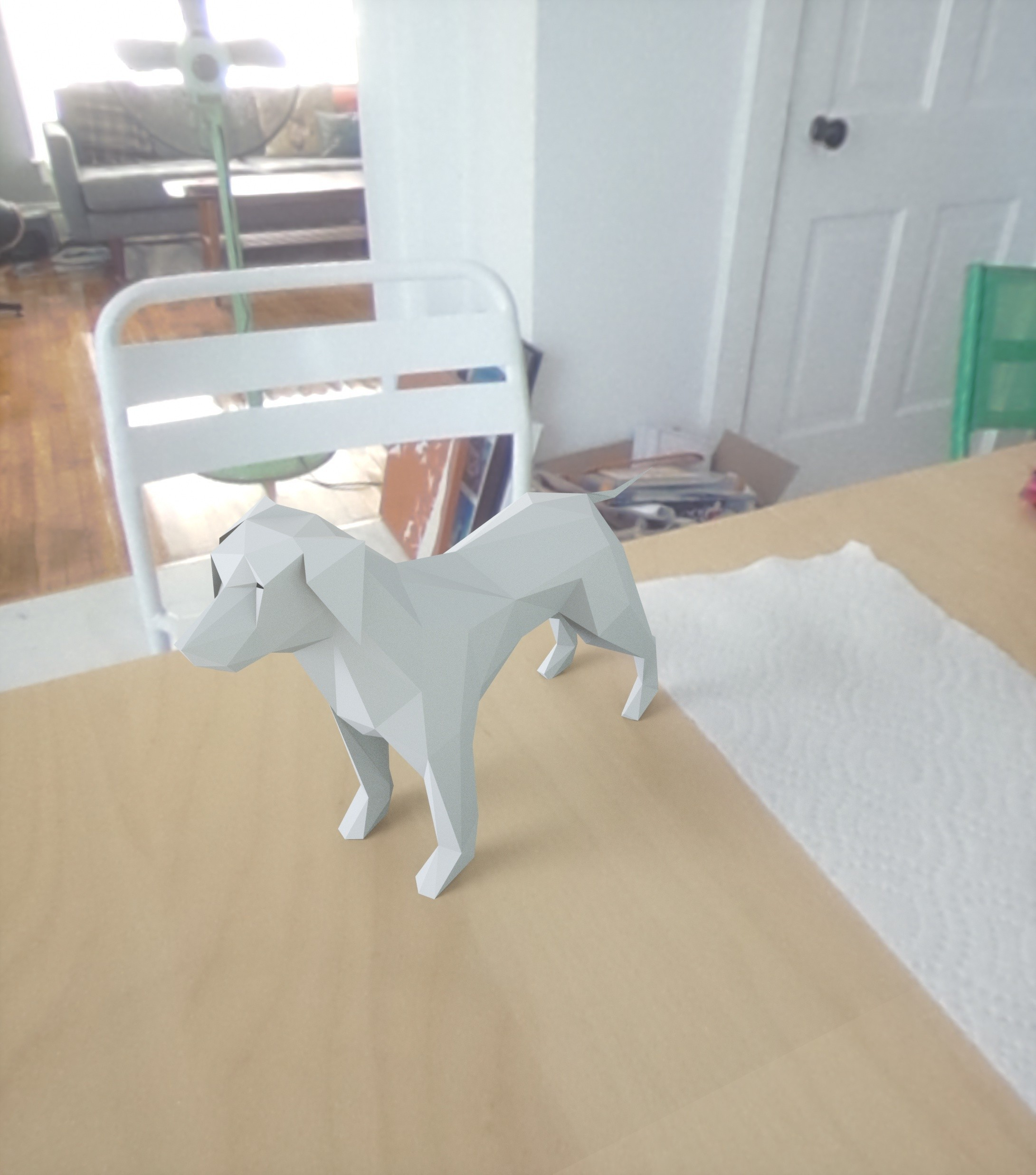 6.jpg Download free STL file low poly dog • 3D printable design, renderstefano