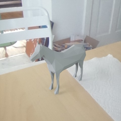 3d printer designs low poly horse, renderstefano