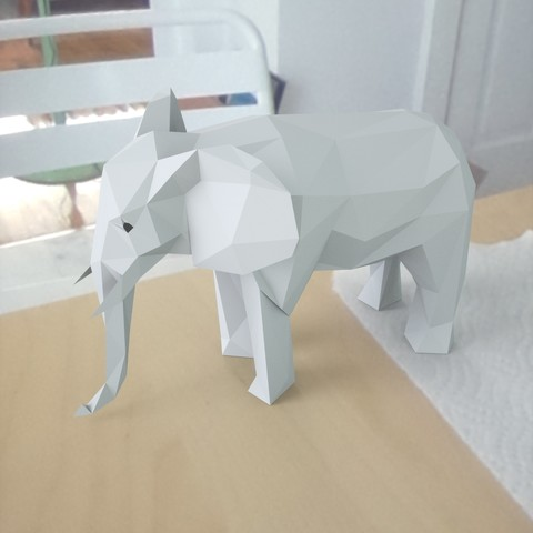 Download free STL file low poly Elephant, renderstefano