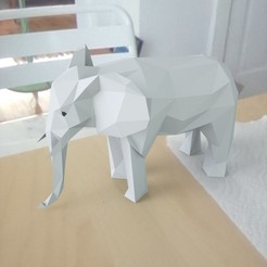 3D file low poly Elephant, renderstefano