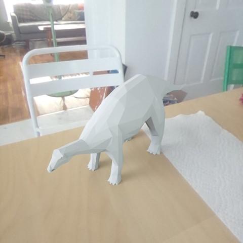 Archivos STL gratis dinosaurio de bajo contenido en polietileno, renderstefano