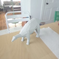 Download free STL low poly dinosaur, renderstefano