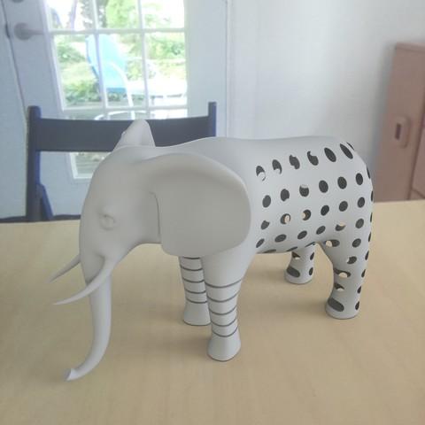 Free STL Elephant pattren, renderstefano