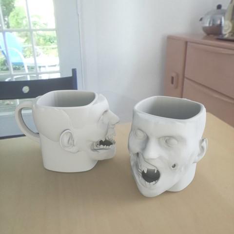 Modelos 3D para imprimir gratis taza zombie, renderstefano