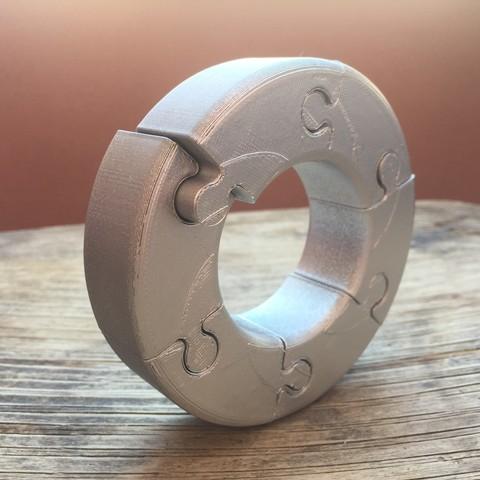 Télécharger fichier 3D gratuit Cercle de puzzle ennuyeux, cisardom