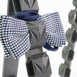3D print files CUBISTIC BOW TIE HOLDER, cisardom