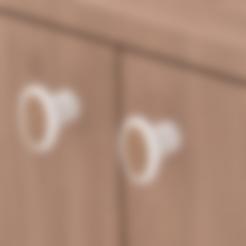 Free STL file Chest Door knob, cisardom