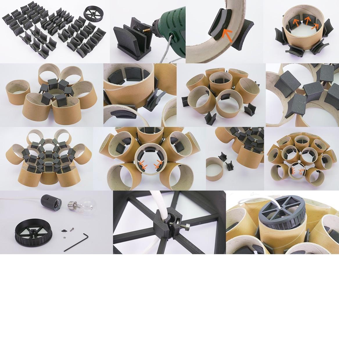 Chandelier_by Dominik Cisar_07_square.jpg Download free STL file CHANDELIER - PRUSAMENT SPOOL - reuse idea • 3D printing template, cisardom