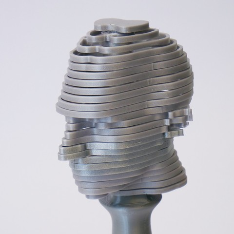 Helicone Head_Dominik Cisar_004.jpg Download STL file Helicone Head - Toy - Turning bust • Model to 3D print, cisardom