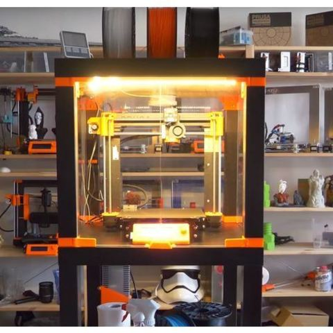 e09bdbd260eb7872667aab80a5331ed5_preview_featured.JPG Download free STL file Original Prusa i3 MK3 ENCLOSURE -Ikea Lack table - Prusa Research • Template to 3D print, cisardom
