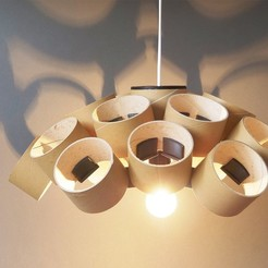 Download free 3D model CHANDELIER - PRUSAMENT SPOOL - reuse idea, cisardom