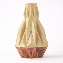 STUDIO CISAR_VASE V01_copper_01.jpg Download STL file CUBISTIC VASE _ 01 • Design to 3D print, cisardom