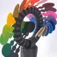 Download 3D printer designs RAINBOW ROLLER-COASTER - KINETIC CIRCLE SCULPTURE, cisardom