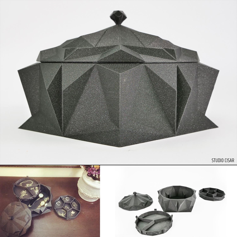 006_Jewelery box A_08.jpg Download STL file CUBISM JEWELLERY BOX • Object to 3D print, cisardom