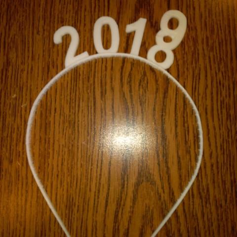 Free 3D print files headband new year 2019, mrbarki7