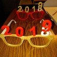 nyg4.jpg Download free STL file glasses new year 2019 • 3D printing object, mrbarki7