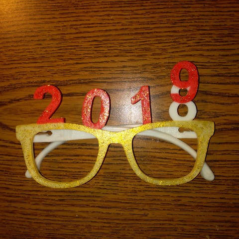 nyg3.jpg Download free STL file glasses new year 2019 • 3D printing object, mrbarki7
