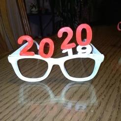 Télécharger fichier imprimante 3D gratuit lunettes du nouvel an 2020, mrbarki7