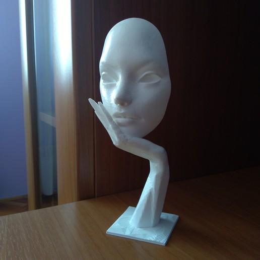 Download 3D printing designs Face on hand, mrbarki7