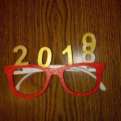 nyg2.jpg Download free STL file glasses new year 2019 • 3D printing object, mrbarki7