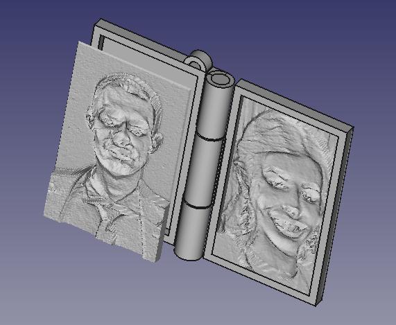 connect.png Download free STL file Memory book - lithophane • Design to 3D print, mrbarki7