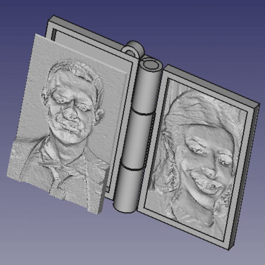 Download free STL file Memory book - lithophane • Design to 3D print, mrbarki7