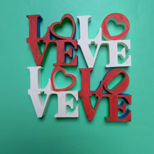Download free 3D printer designs Love sculpture, mrbarki7