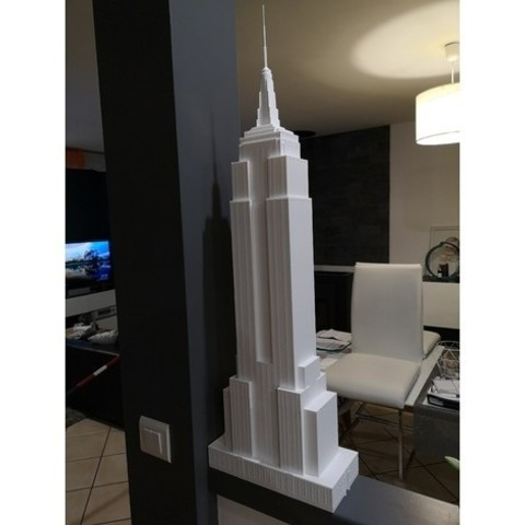 Free 3D printer model Empire State Building 87cm height (87cm height) + LED, Deun44