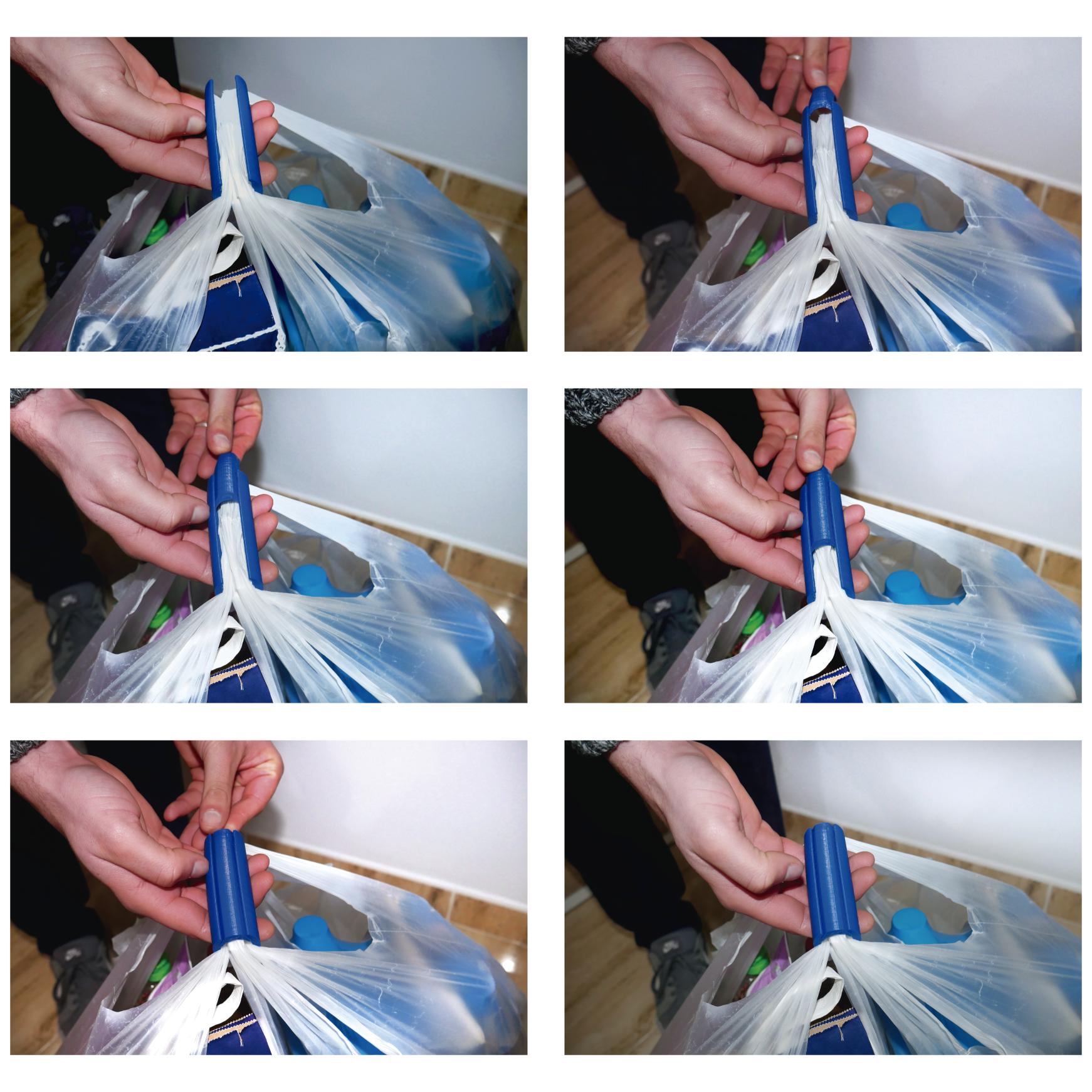 Shopping_bag_handle_06.png Download STL file Shopping Bag Handle [Life Hack] • 3D print design, 3DKSTRO