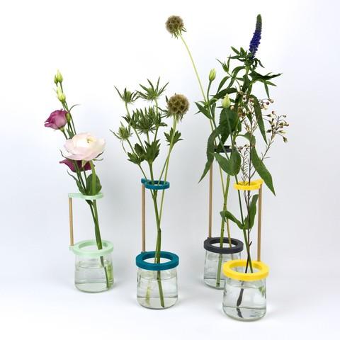 Plan 3D Soliflore / Vase à fixer sur un pot en verre, Jonathan-AtelierVOUS