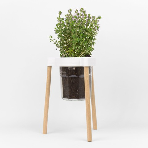 Download STL Tripod for planting in a jam pot, Jonathan-AtelierVOUS