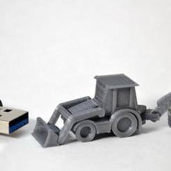 Download free 3D printing designs Backhoe, MakeItWork