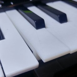 Impresiones 3D gratis Llaves de repuesto para mini piano, MakeItWork