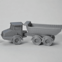 Free Articulated Dump Truck STL file, MakeItWork