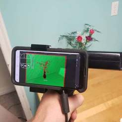 Download free STL file Kinect Handle (No screws) with added phone and tripod mount, MakeItWork