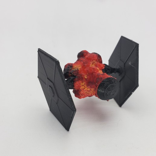Download free 3D printing files TIE fighter explosion, MakeItWork