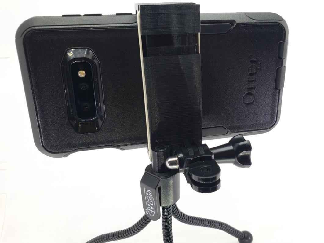 05.jpg Download free STL file tripod / GoPro phone mount • 3D printer model, MakeItWork