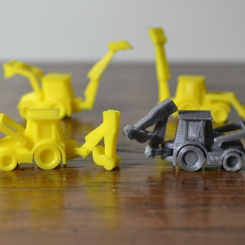 04.jpg Download free STL file Backhoe • 3D print design, MakeItWork