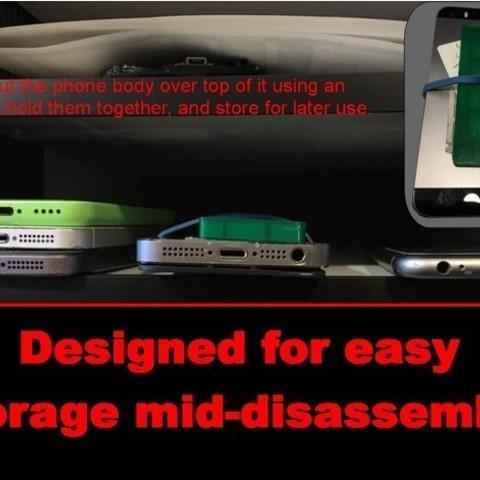 e4bde0eb46b8f32ef4b4207f5344b4d4_preview_featured.jpg Download free STL file iPhone repair tray • 3D printer design, MakeItWork