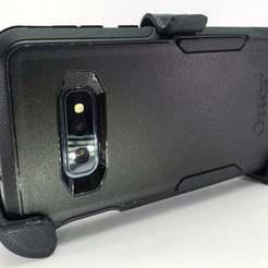 Descargar Modelos 3D para imprimir gratis Clip de cinturón Galaxy S10e OtterBox, MakeItWork