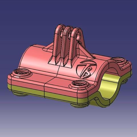 Modelos 3D cámara de apoyo GO PRO on Bike, tgb95390